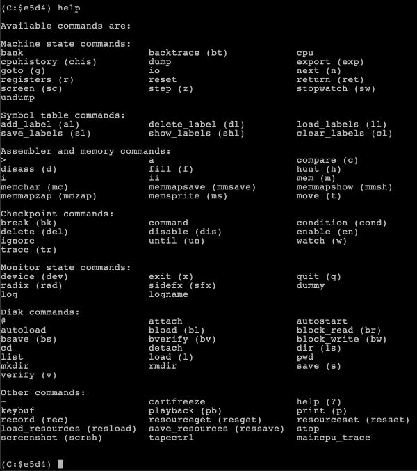 c64 emulator mac vice monitor