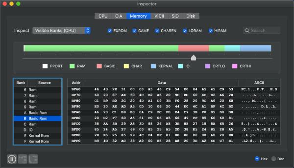 c64 emulator mac virtualc64 inspector